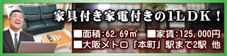 本町周辺 家具付きの広い1LDK