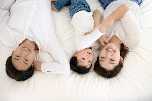 家族用の貸出し寝具